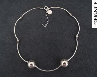 Necklace silver cloud