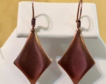 Kite Antiqued Copper Plated Steel Earring