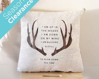 Deer Antler Pillow Cushion Blanket, Decorative Blanket, Throw Pillow, Cushion Cover, Pillow Cushion Cover, Christmas, Gift, Pillow Covers.