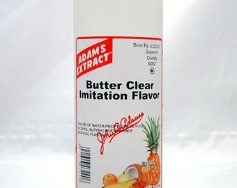 Adams Extract Butter Clear Imitation Flavor 1 Pint