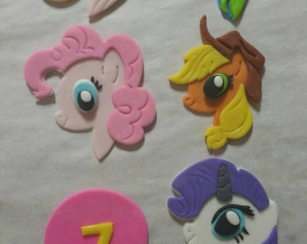 My Little Pony edible fondant decorations for cakes cookies cupcake toppers