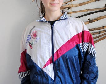Rodeo vintage windbreaker 1990s 1980s womens sport jacket