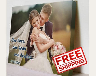 Wedding Photo Canvas Ideas Gift Birsthday Print on canvas