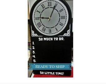 Combination Clock and Chalkboard