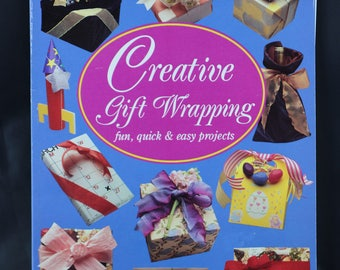Vintage Creative Gift Wrapping Craft Book, Vintage Craft, Creaive Gift Wrap, Gift Wrap Ideas, Party Decorations, Craft Instruction Book
