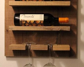 Xaver - wine rack, Oak reclaimed wood