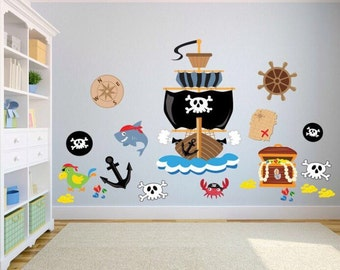 Delicieux Pirate Kids Bedroom Wall Stickers   Kids Wall Decals Bedroom / Playroom   Pirate  Wall Stickers