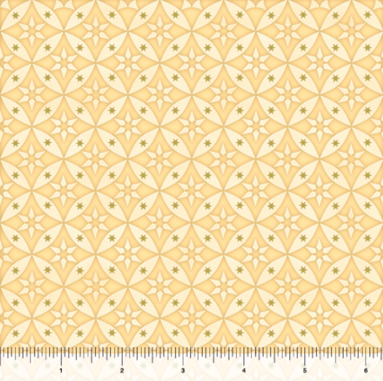 Geometric fabric celestial sol star geometric on butter for Celestial fabric by the yard