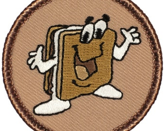 S'mores Patch (720) 2 Inch Diameter Embroidered Patch