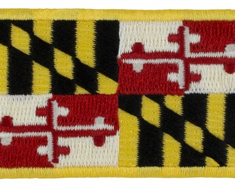 "Maryland State Flag Patch - Sew-on (M53)  1 1/2"" x 2 1/2"" - 24582"