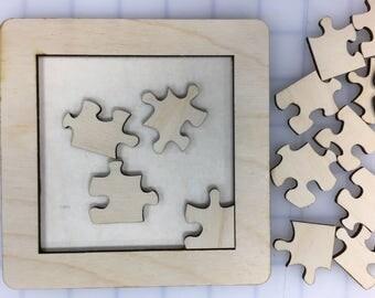 Laser cut wood jugsaw puzzles 6 Kits