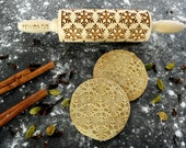 Snowflakes, mini rolling pin , embossing rolling pin, laser engraved rolling pin,