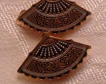 Anniversary Sale Vintage Fan Earring from Spain