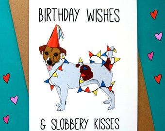 Jack Russell Birthday Card, Jack Russell Card, Dog Birthday Card