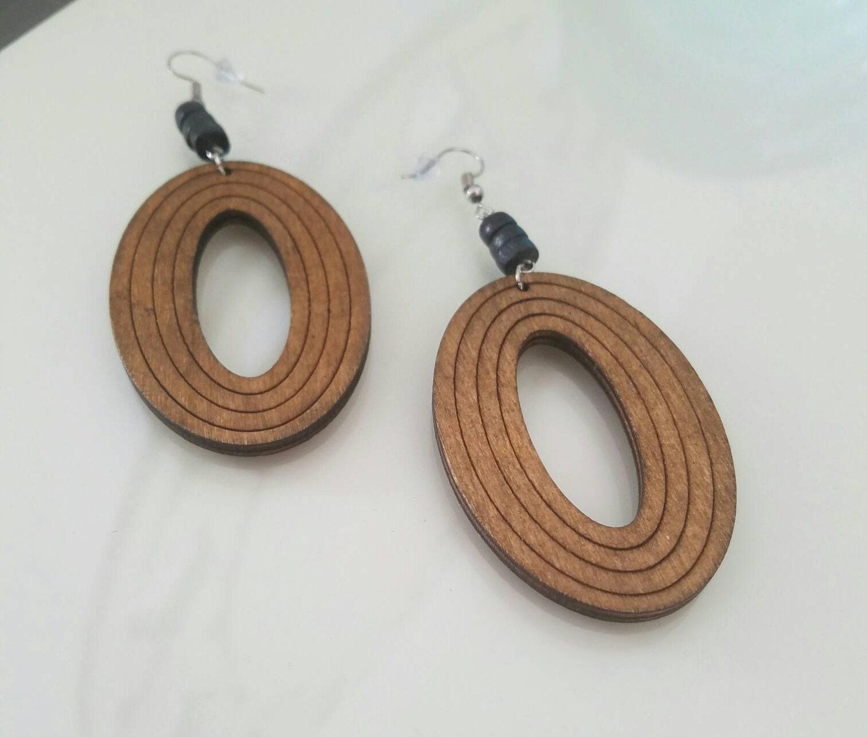 wood earrings by afrosimplicity on etsy