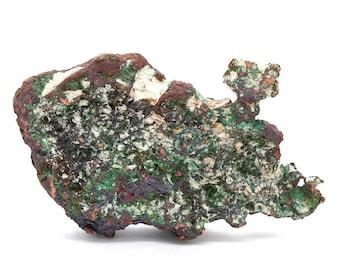 Natural Copper Nugget with Malachite – 302g