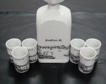 Vintage German Porcelain Shot Set