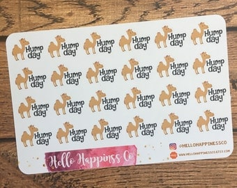 42 Hump Day Stickers - Mid Week -Planner Stickers - Functional Stickers