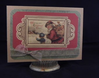 Hand Made Christmas Card – Wishing you Christmas Cheer