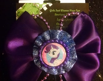 My Little Pony inspired hair bow, Rarity pony hair bow