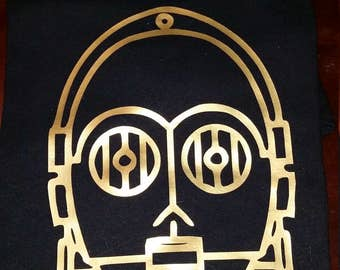 Star Wars C3PO T-Shirt (Many Sizes and Colors)