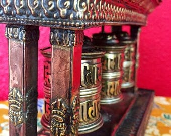 Tibetan prayer wheel...