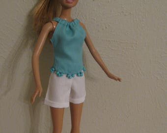 Barbie doll clothes-shorts & top