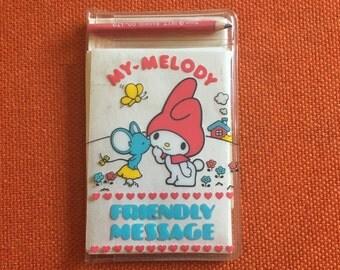 "My Melody Vintage Sanrio ""Friendly Message"" Mini Memo Set"