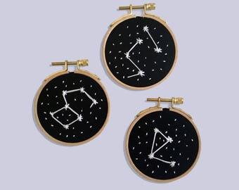 embroidery triptych constellations batch