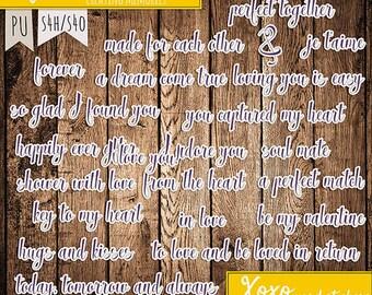 XOXO word stickers