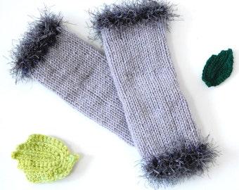 Baby Leg Warmers, Knitted Leg Warmers, Crochet Baby Leg Warmers, Gray Baby Leg Warmers, Wool Baby Leg Warmers, Winter Leg Warmers