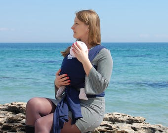 "Baby wrap carrier, baby sling, baby sling carrier, baby wrap sling, newborn gift, baby gift, baby carrier, ""Sophie"""
