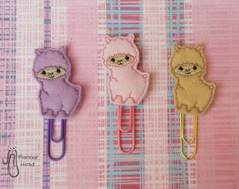 Alpaca llama paper clip / planner clip, alpaca planner accessories, llama paperclip, alpaca llama bookmark, alpaca llamas, cute llama,