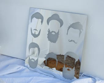ON SALE NOW!! Unique Beard & Hair Laser engraved mirror
