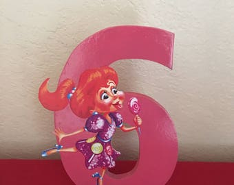 Candyland Inspired Themed Letter or Number, Candyland party decorations, candy land party supplies, candyland party, candyland letters