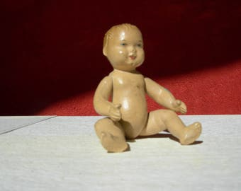 Vintage small baby doll, doll, doll, marked NILE