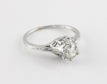 Vintage Edwardian Diamond Engagement Ring, 0.60 ct