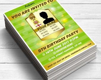 15 FIFA FUT Invitation, Boys & Girls Birthday Party Invitations, Football Party Invites, Soccer birthday party, football invitations