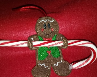 Gingerbread Man Candy Cane Holder