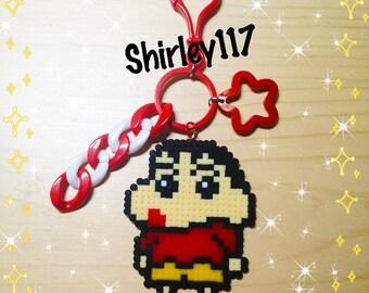 Perler Keychain - Crayon Shin-chan (2.6mm Mini Beads)