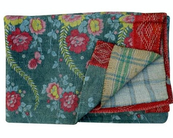 Kantha Quilt, Kantha quilt, Patchwork kantha quilt, Vintage kantha Quilt, Vintage Kantha Quilt, Kantha , Reversible kantha quilt