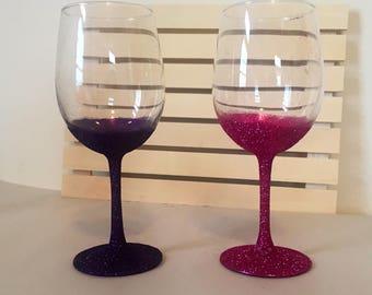 Glittery Wine Glasses!