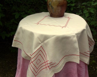A vintage tablecloth or vintage beautiful linen mint condition