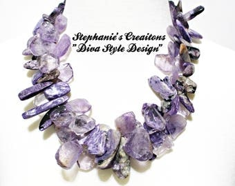 Amethyst and Jasper Statement Necklace