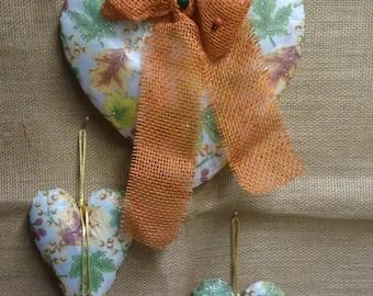 3pcs. Hanging hearts 3 sizes