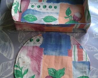 Bread basket/baguette basket plus Bowl coasters, 3pcs., sewn