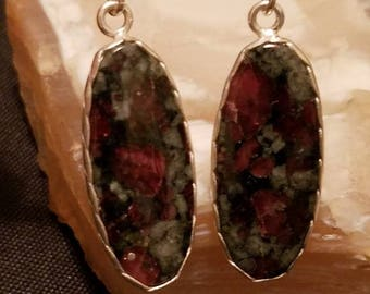 Eudialyte Sterling Silver Earrings