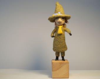 Needle felted Snufkin, Snufkin figurine, Wool Moomin, Moomin soft toy, Snufkin, Moomins, Moomin trolls