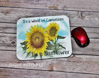 Mousepad, Sunflower Mousepad, Sunflowers, Sunflower, Office Supplies, Office, Gift for her, Gift for woman, Sunflower Gift