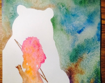 Princess- Merida (Brave): ORIGINAL Watercolor Painting (8x10'')